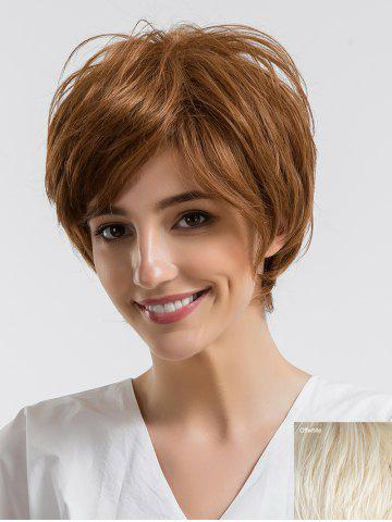 Fancy Short Side Bang Straight Human Hair Wig
