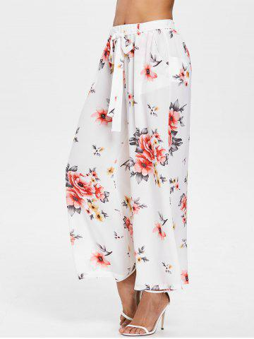 Latest High Rise Floral Ninth Palazzo Pants