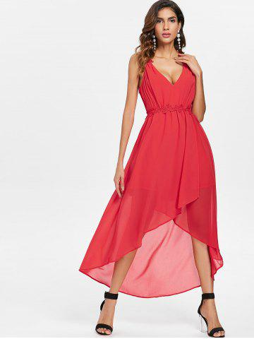 Cut Out Back Sleeveless Chiffon Dress