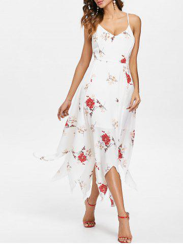 Sale Floral Print Cami Straps Maxi Handkerchief Dress