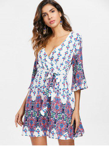 Bohemia Print Faux Wrap Dress