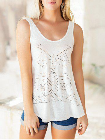 Studded Embellished Casual Sleeveless Tee