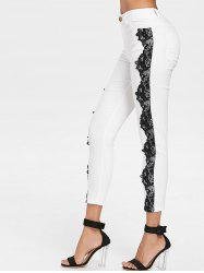 Lace Panel Skinny Pants -