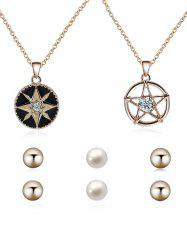 Crystal Inlay Star Decorative Wedding Jewelry Set -