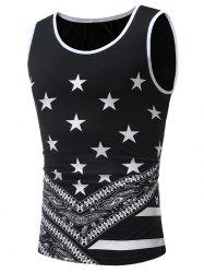 Round Neck Star Print Tank Top -