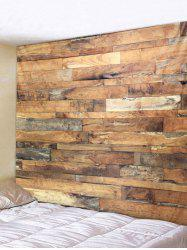 Vintage Wood Planks Print Wall Art Tapestry -