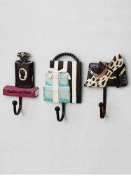High Heels Perfume Gift Shaped Wall Rack Hooks 3PCS Set -