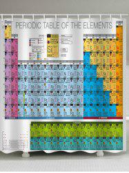 Chemical Elements Printed Waterproof Bath Curtain -