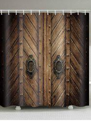 Wooden Door Print Waterproof Shower Curtain -