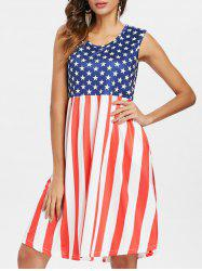 Sleeveless American Flag Dress -