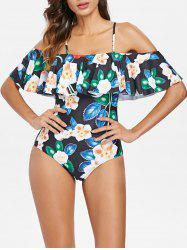 Flower Flounce One Piece Swimsuit -