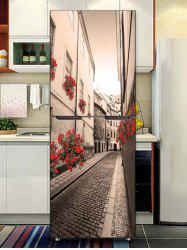 City Alley Print DIY Fridge Sticker -