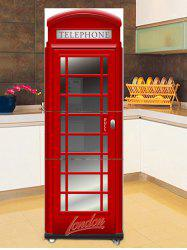 Telephone Booth Print DIY Fridge Sticker -