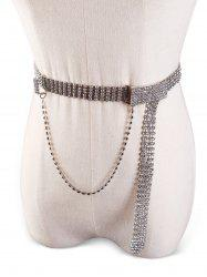 Shiny Rhinestone Decorative Skinny Belt -