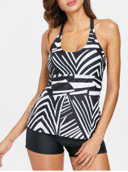 Striped Strappy Tankini Set -