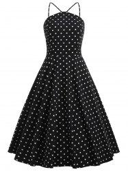 Knee Length Polka Dot Swing Dress -