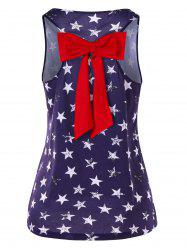 Stars Print Tank Top with Bowknot -