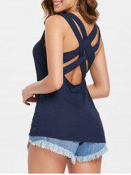 Criss Cross Open Back Tank Top -