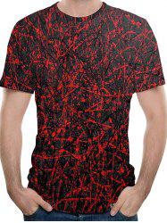 Casual Allover Messy Line Print T-shirt -