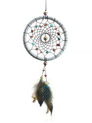 Handmade Feathers Stones Dreamcatcher Wall Hanging -