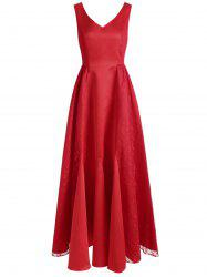 V Neck Maxi Party Dress -