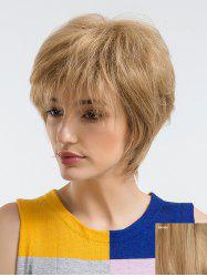 Short Side Bang Straight Human Hair Wig -
