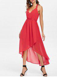 Cut Out Back Sleeveless Chiffon Dress -
