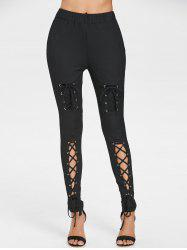 High Rise Lace Up Pants -