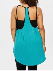 Rosegal Plus Size Shirred Tube Top With Tunic Tank Top -