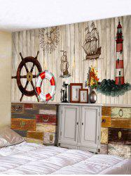 Nautical Art Background Wall Hanging Tapestry -
