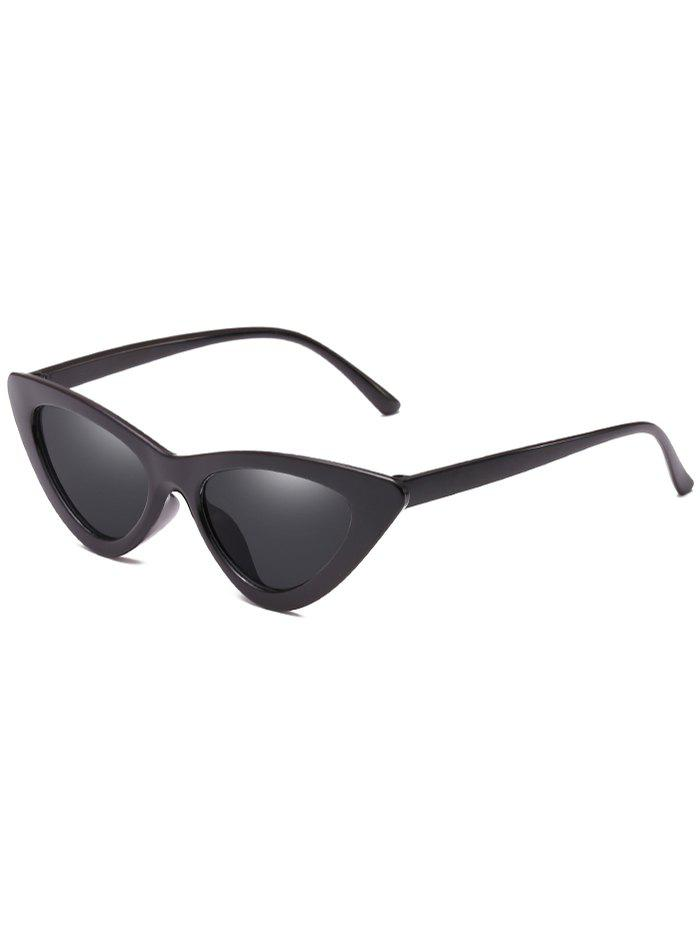 Discount Unique Plastic Frame Flat Lens Catty Sunglasses