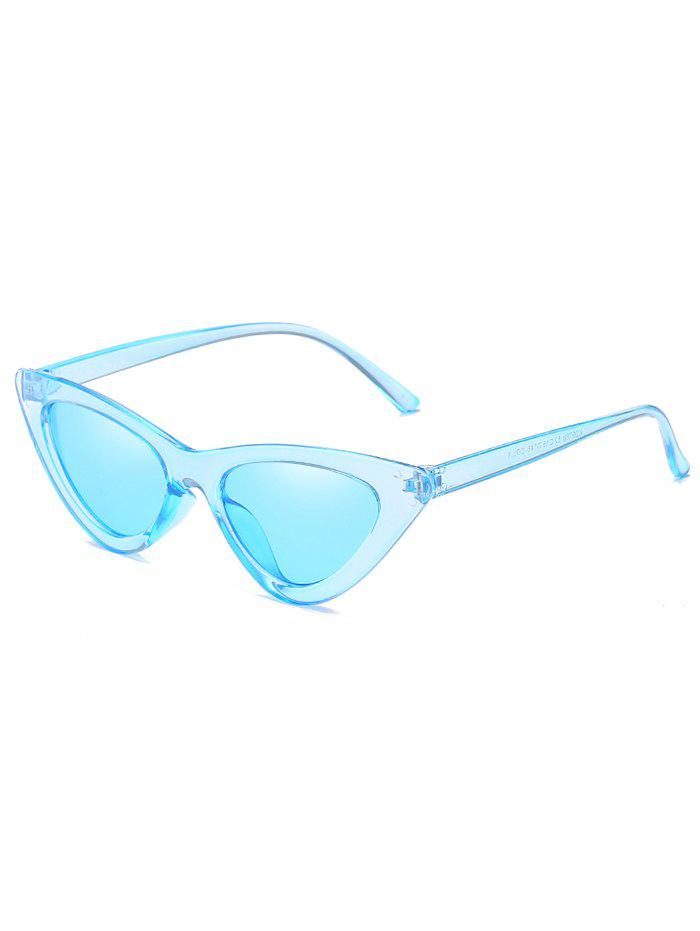 Outfits Unique Plastic Frame Flat Lens Catty Sunglasses