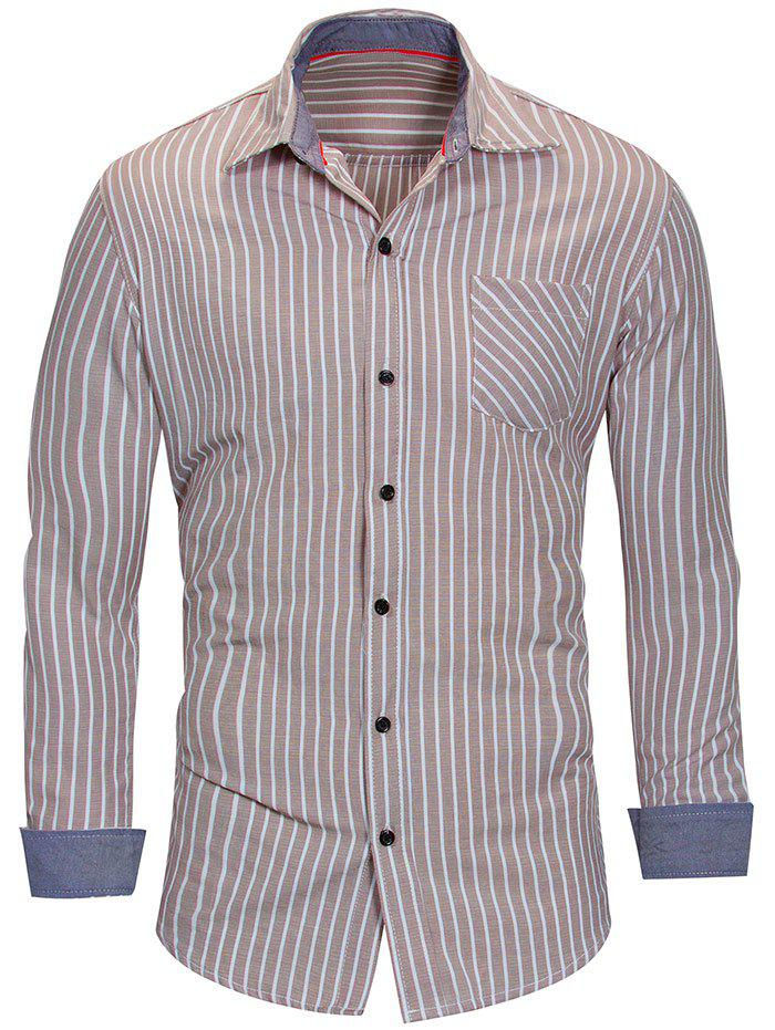 Outfit Long Sleeve Vertical Stripe Shirt
