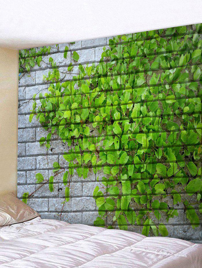 Best Brick Leaf Pattern Tapestry Wall Decoration