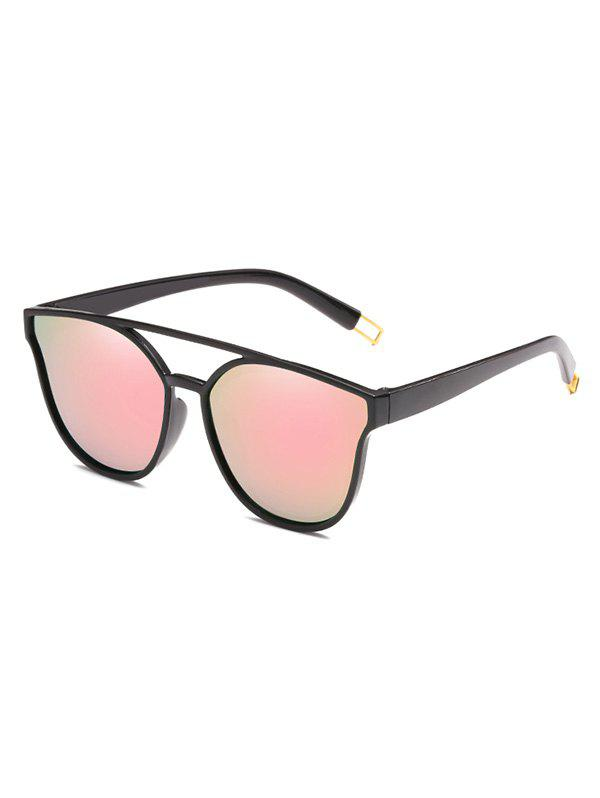 Cheap Unique Crossbar Clear Lens Sunglasses