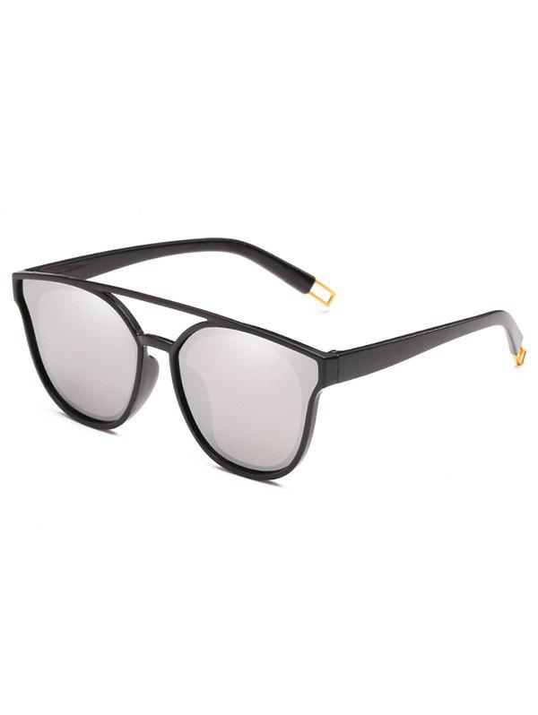 Sale Unique Crossbar Clear Lens Sunglasses