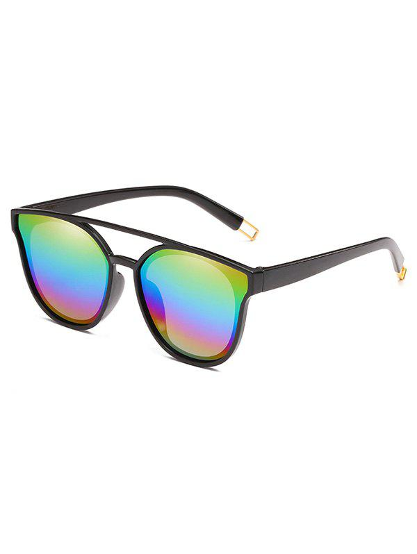 Fancy Unique Crossbar Clear Lens Sunglasses