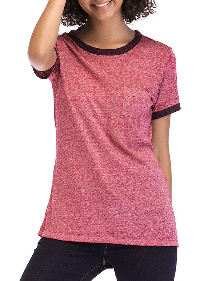 Cheap Round Neck Short Sleeve Basic Top