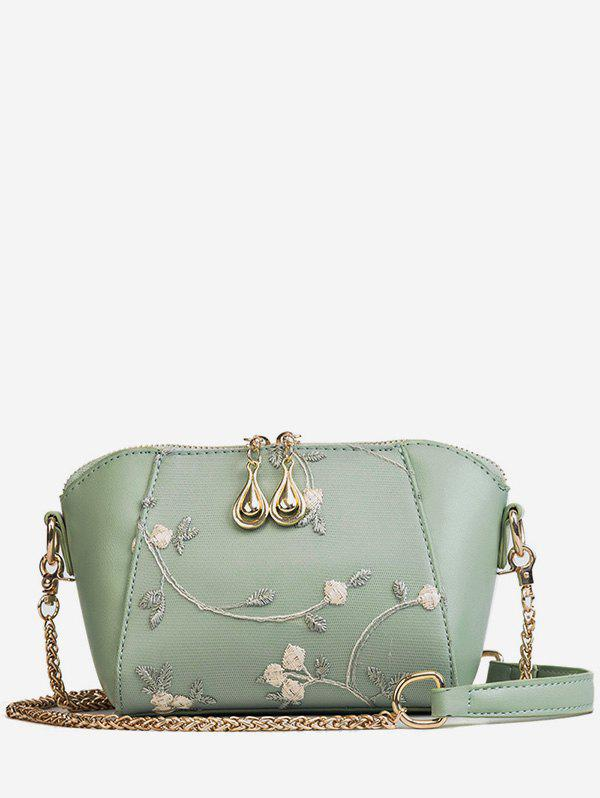 Unique Flower Embroidery Shell Shaped Chic Crossbody Bag