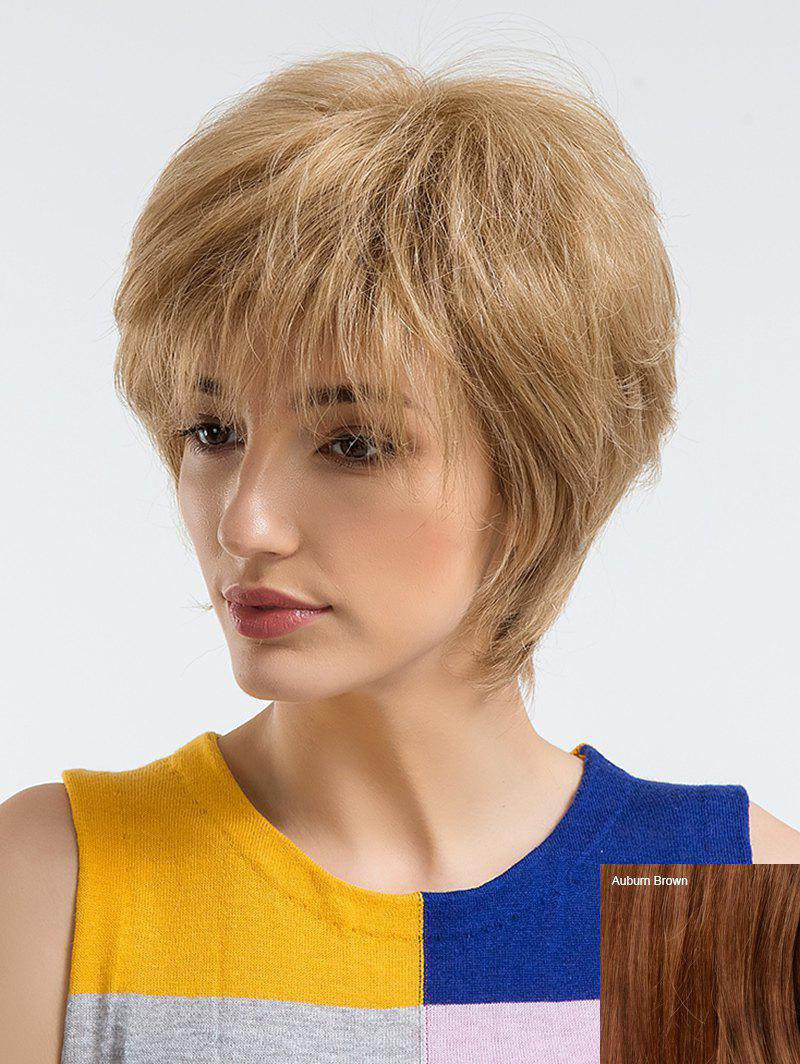 Fashion Short Side Bang Straight Human Hair Wig
