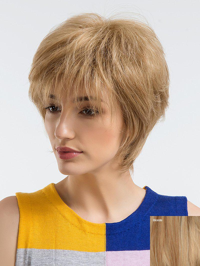 Buy Short Side Bang Straight Human Hair Wig