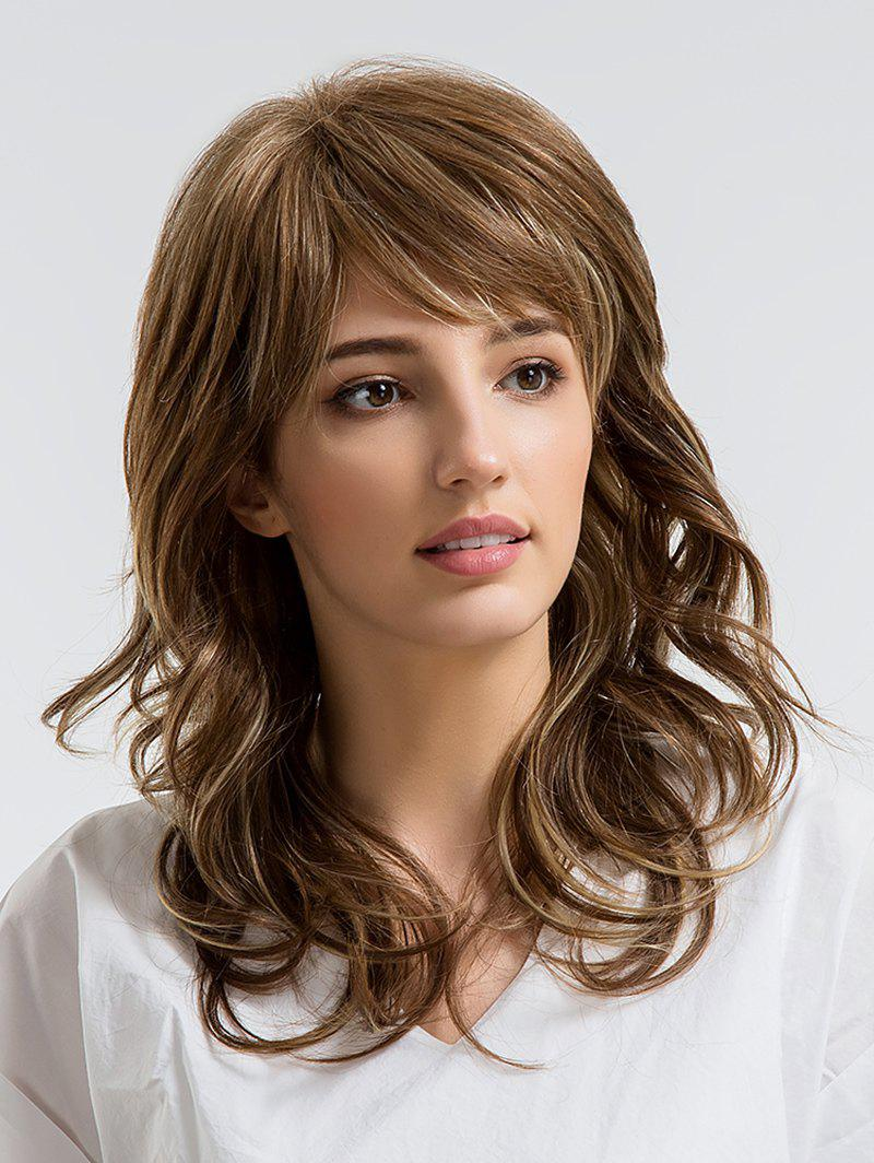 Best Long Side Bang Wavy Human Hair Wig