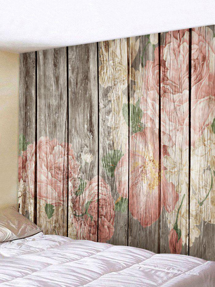 Affordable Flowers Wood Art Print Wall Tapestry