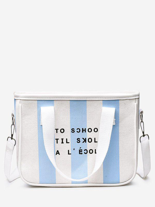 Fashion Striped Color Blocking Canvas Leisure Sling Bag