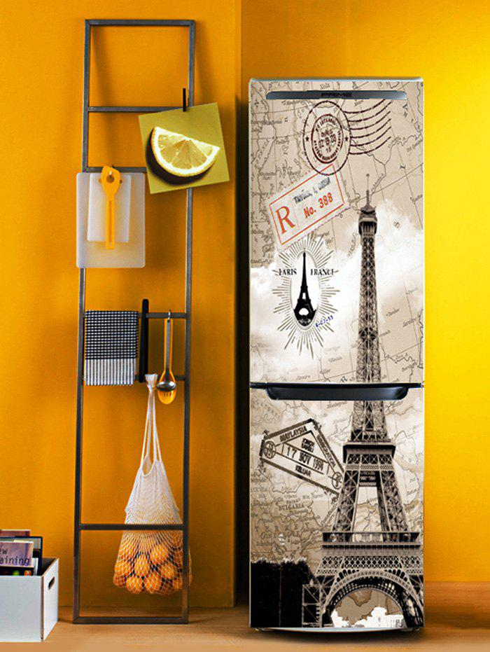Shop Eiffel Tower Print DIY Fridge Sticker