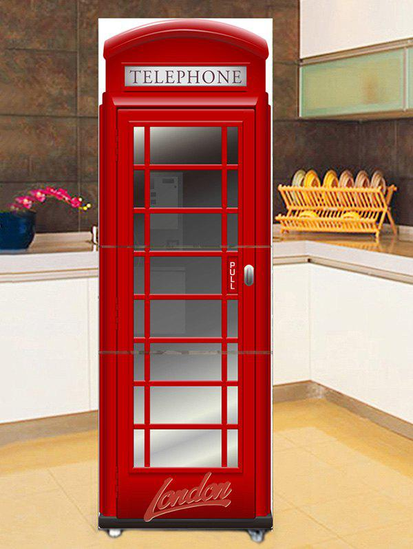 Online Telephone Booth Print DIY Fridge Sticker