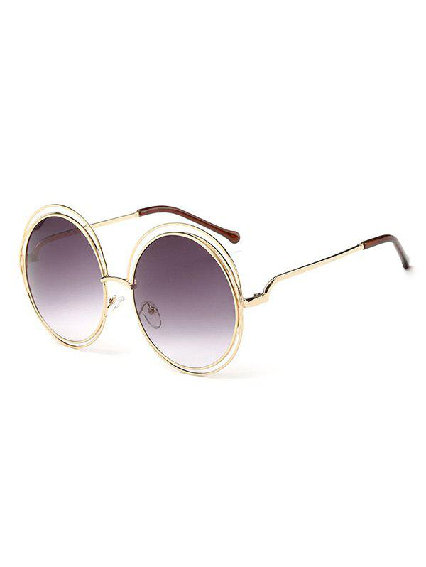 Discount Unique Hollow Out Frame Round Sunglasses