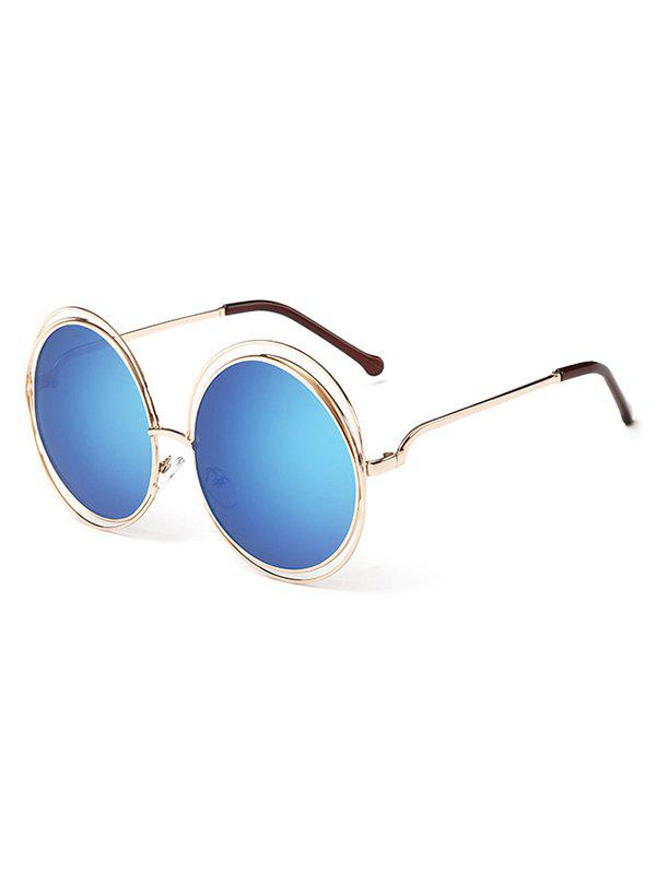 Outfit Unique Hollow Out Frame Round Sunglasses