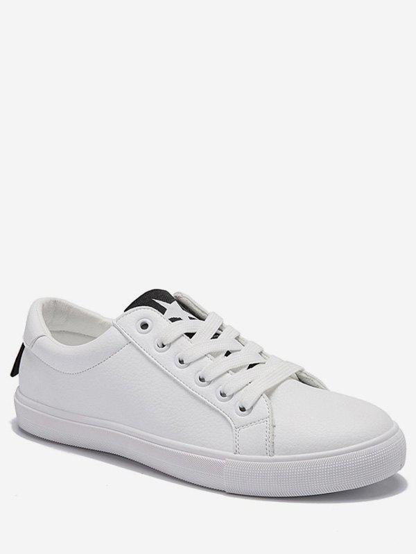 Shop Lace Up Low Heel Leisure Outdoor Sneakers
