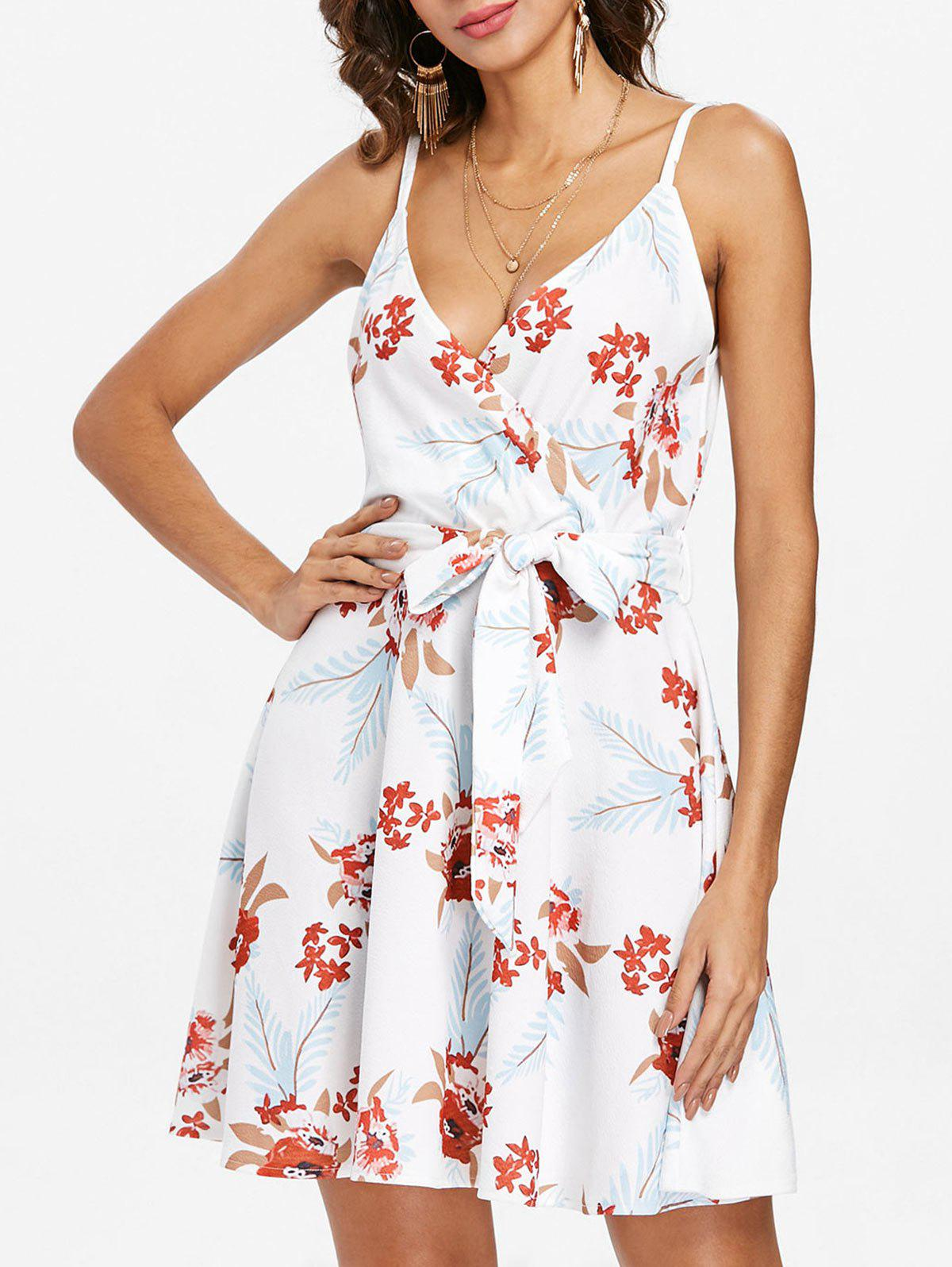 Hot Floral Casual Sleeveless Dress